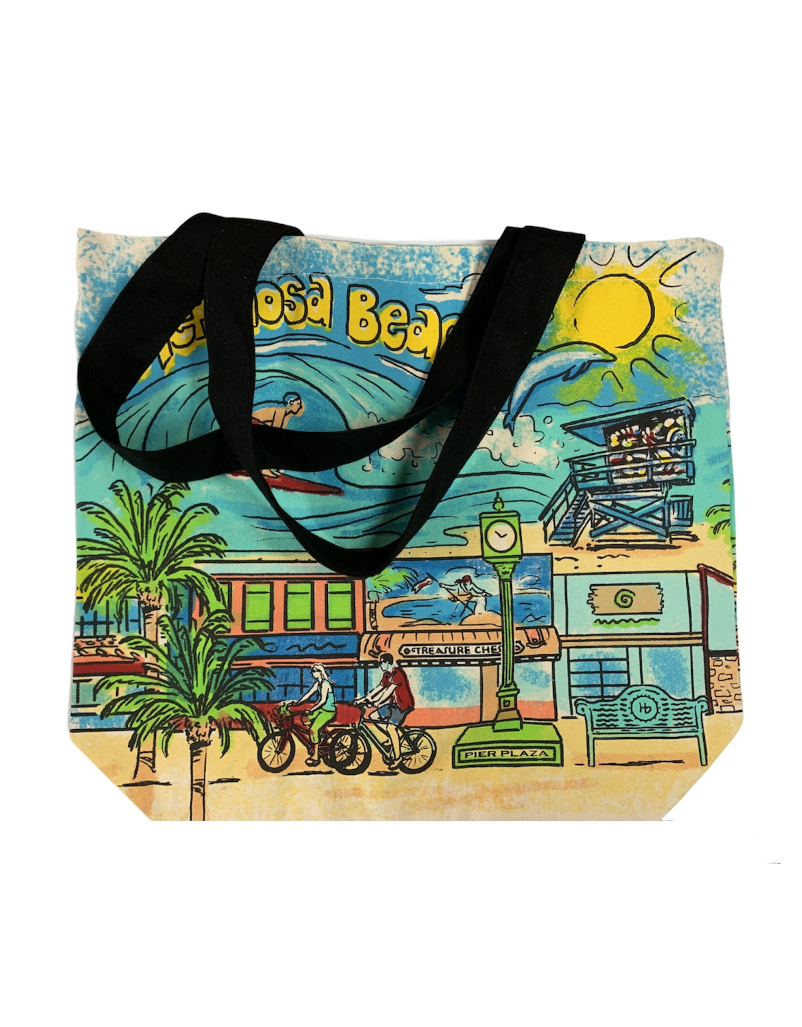 HB SHOPPER TOTE PAINTED CANVAS
