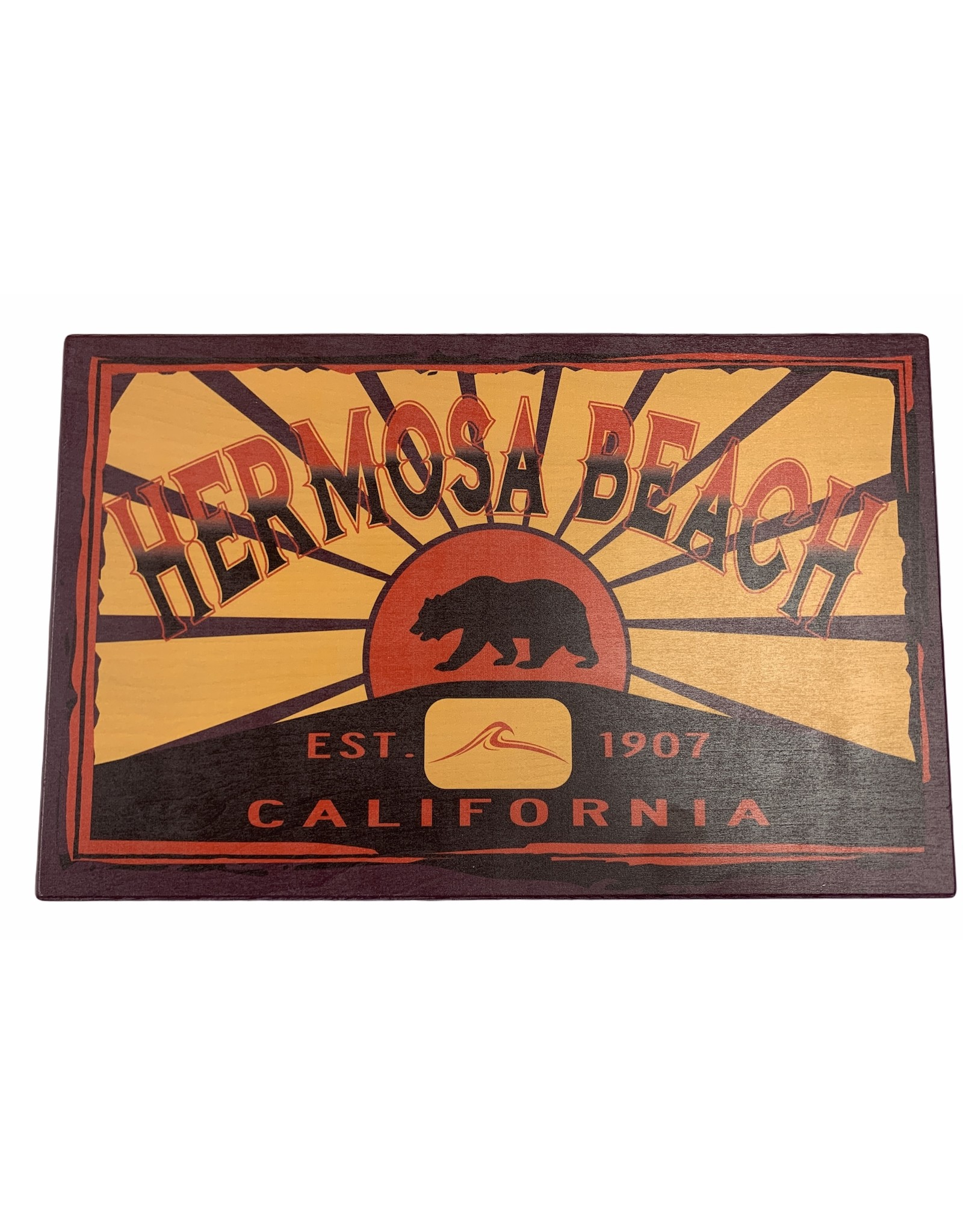 "Lakeshirts INC. HB CALI BEAR/WAVE WOOD SIGN 11.5""X18""https://treasure-chest-hermosa-beach.shoplightspeed.com/admin/products/paginate?dir=next&offset=11&product_id=37072070"