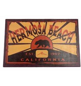 """Blue 84 HB CALI BEAR/WAVE WOOD SIGN 11.5""""X18"""""""