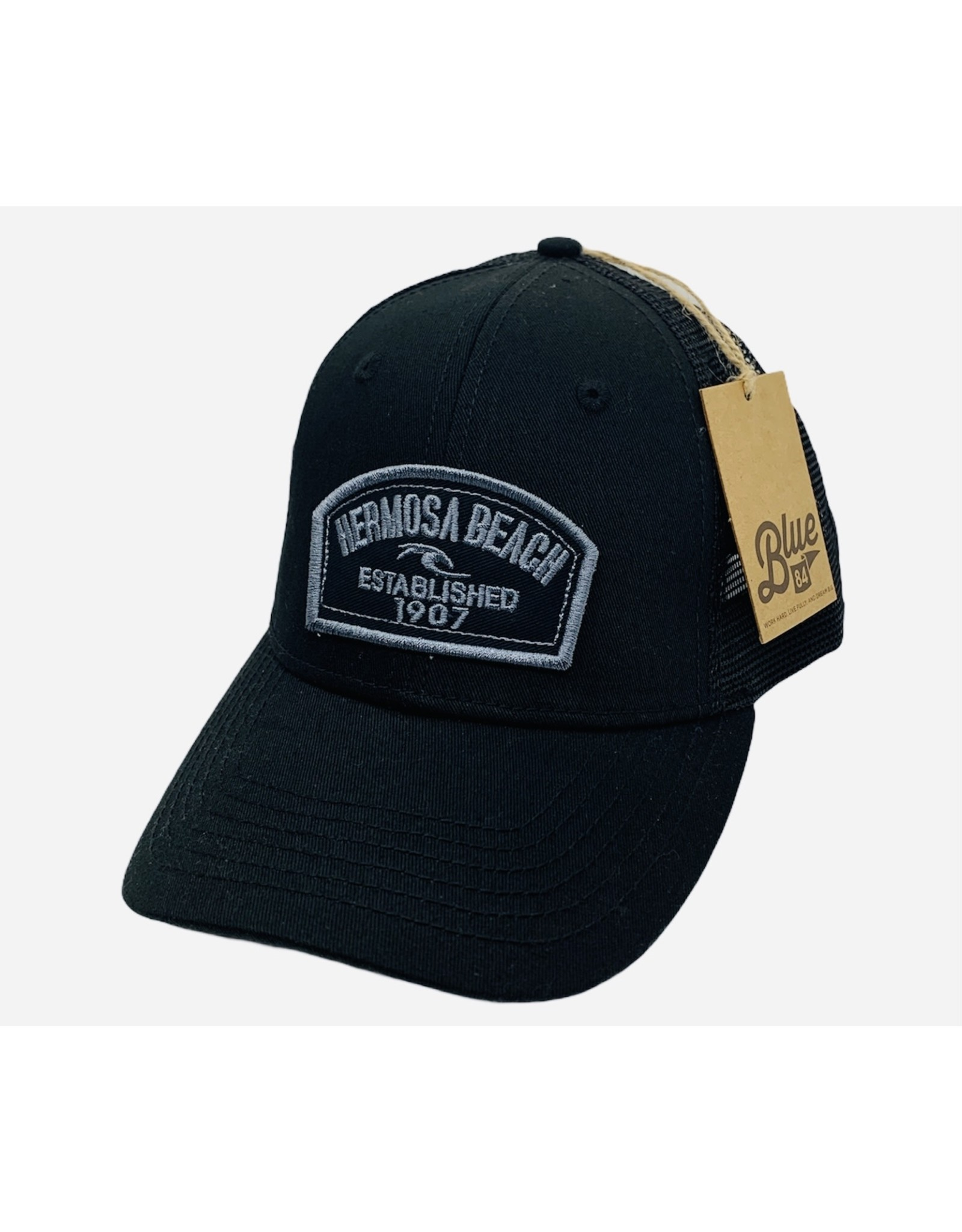 Blue 84 #EE HB  HALF PAST WAVE TWILL PATCH HAT
