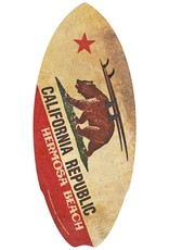 C-YA HERMOSA BEACH CALRACK BEAR MINI WOOD SURFBOARD