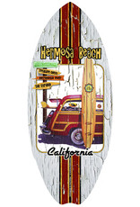 C-YA HERMOSA BEACH SURFSPOT MINI WOOD SURFBOARD