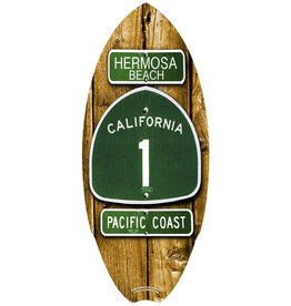 C-YA HERMOSA BEACH ROUTE 66 MINI WOOD SURFBOARD
