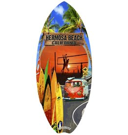 C-YA HERMOSA BEACH VOLLEYBALL  VWDUDE MINI WOOD SURFBOARD