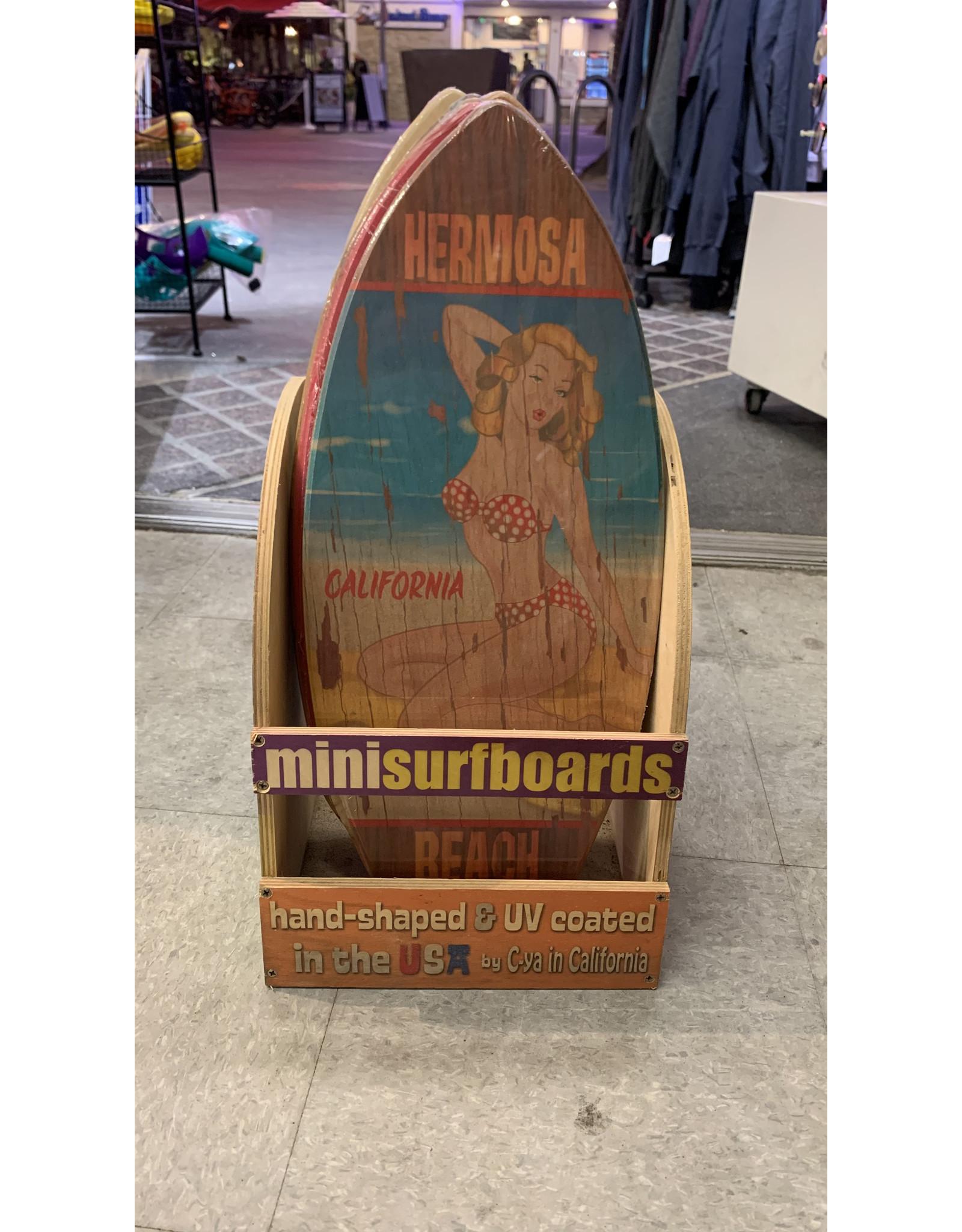 C-YA HERMOSA BEACH ROUTE 66 MINI WOOD SURFBOARD