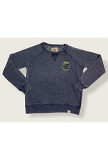 Lakeshirts INC. #997 HB LADIES SWT FLEECE CREW RATCHET PALMS WAVES NAVY