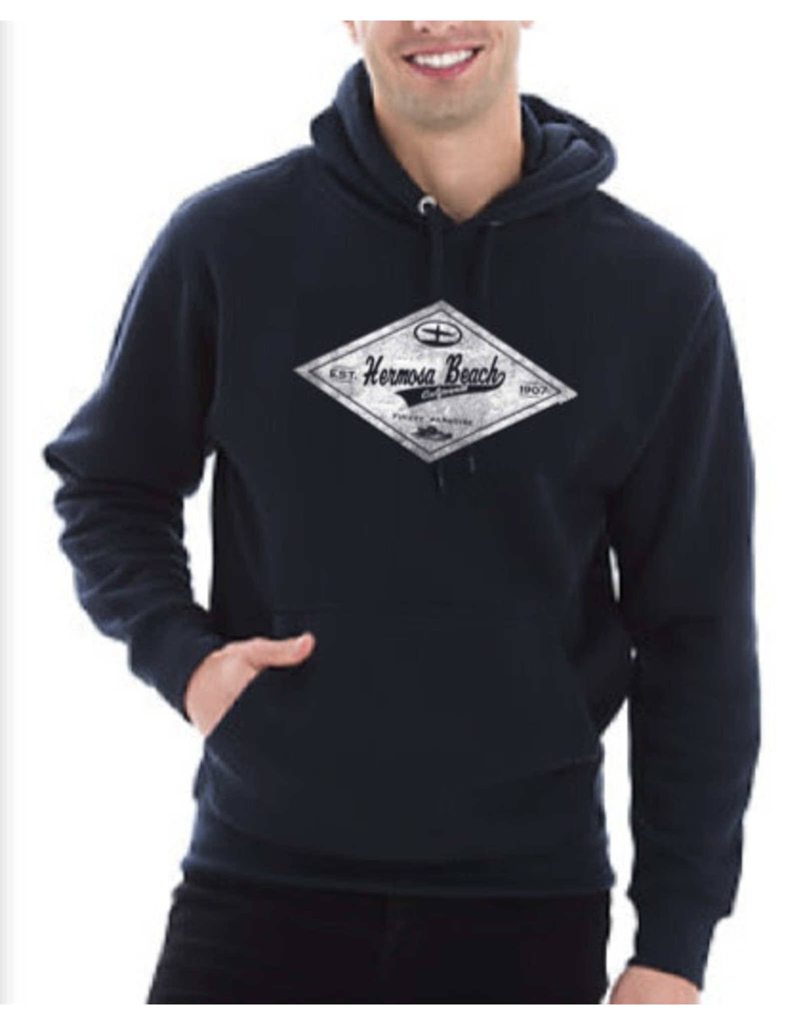 Black Anchor Supply CO. #318 BA  SWT HB FINEST PULLOVER HOOD NAVY