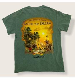 Lakeshirts INC. #175 B84 OTL SS HB THE DREAM PALMS SAILBOAT GREEN