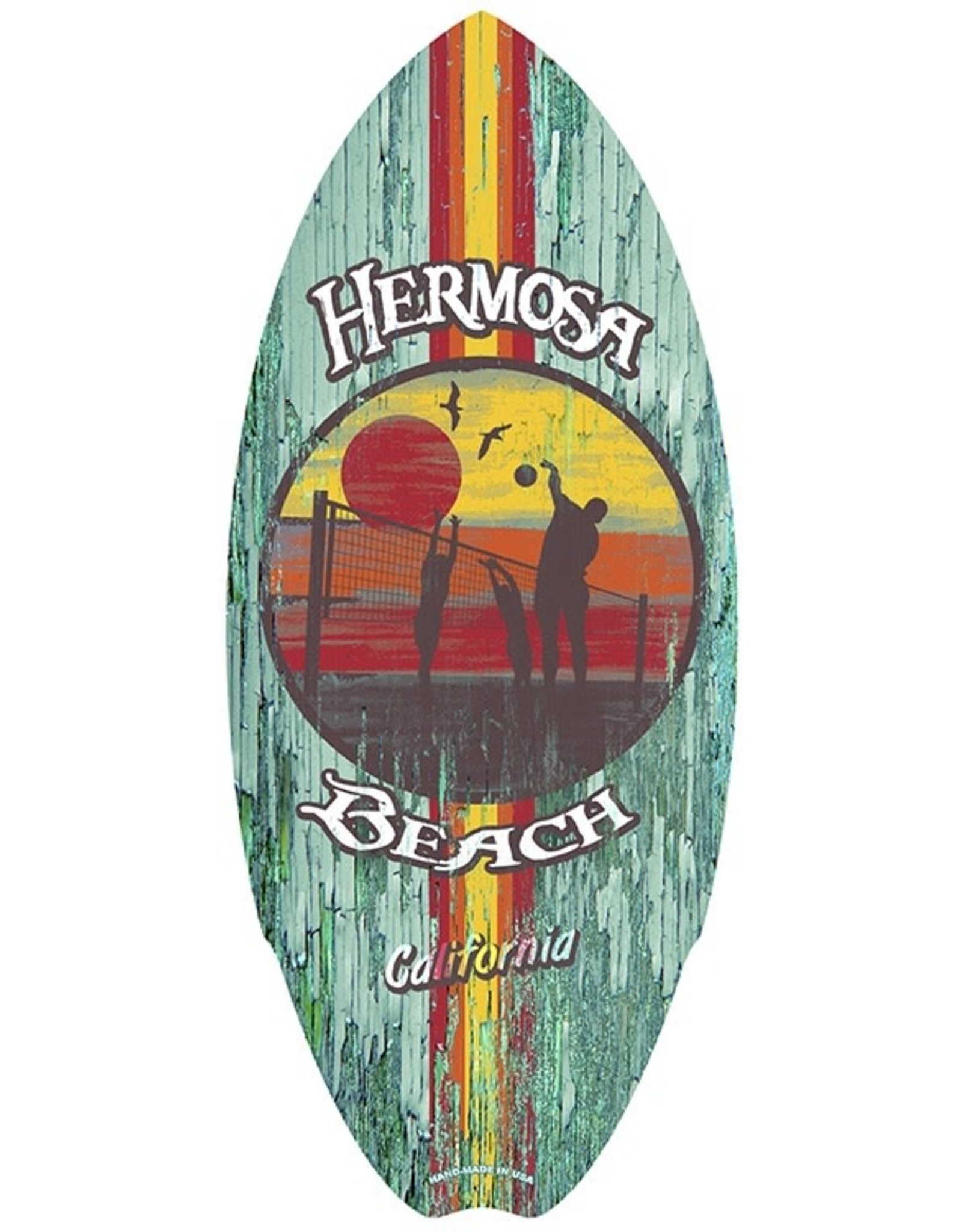 C-YA HERMOSA BEACH VOLLEY SUN MINI WOOD SURFBOARD