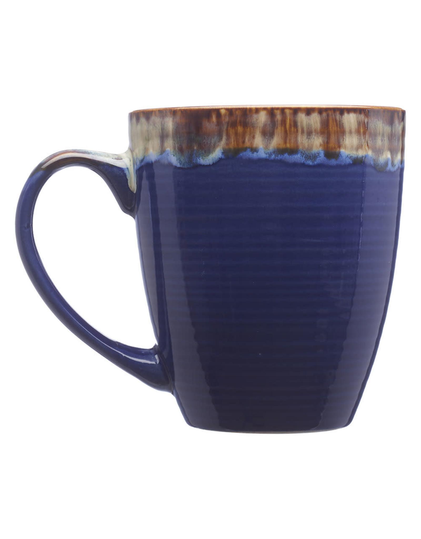 DiscountMugs 17OZ WATER COLOR DRIP CERAMIC MUG BLUE