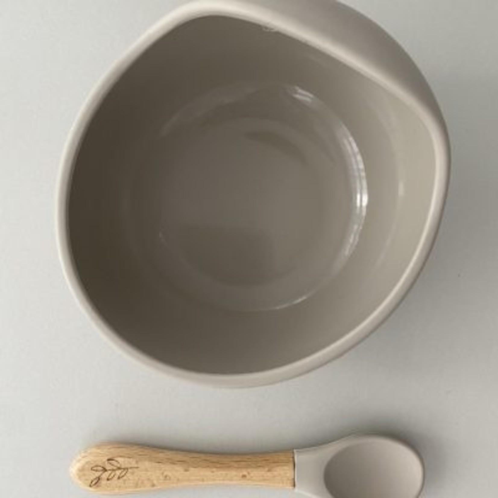 Pois & Moi °° Ensemble de bol en silicone et cuillère