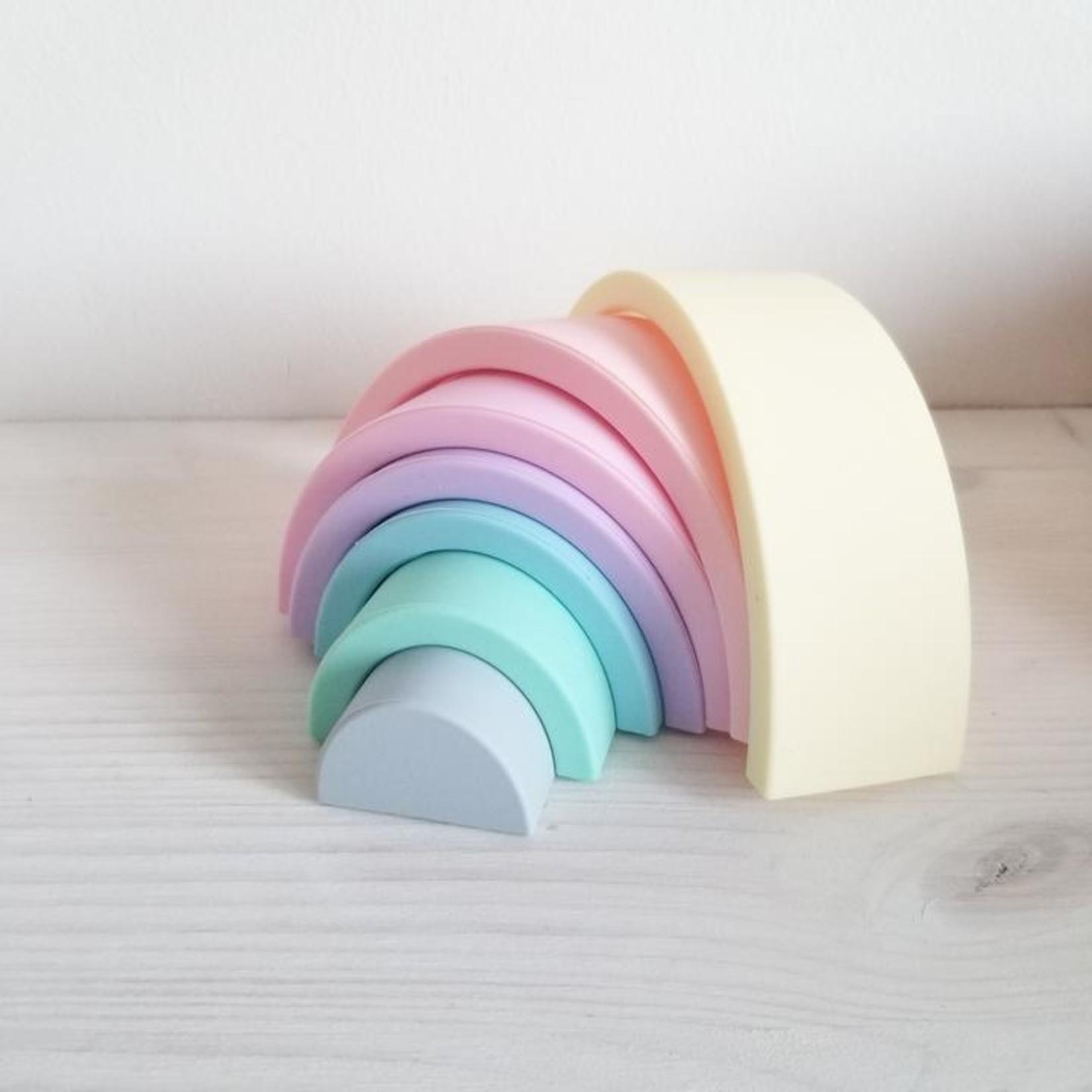 Création Jade °° Petit arc-en-ciel en silicone - pastel