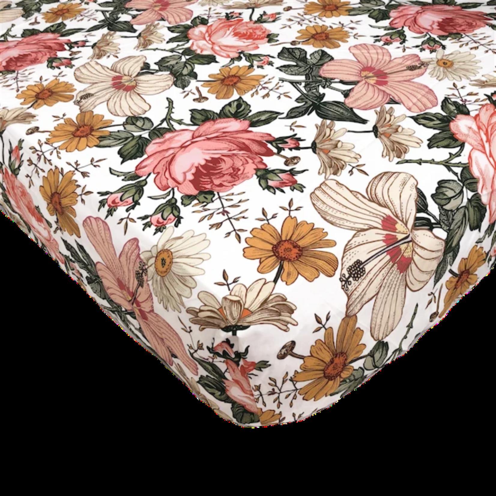 Mini Scout °° Drap de bassinette Fleur Blanche