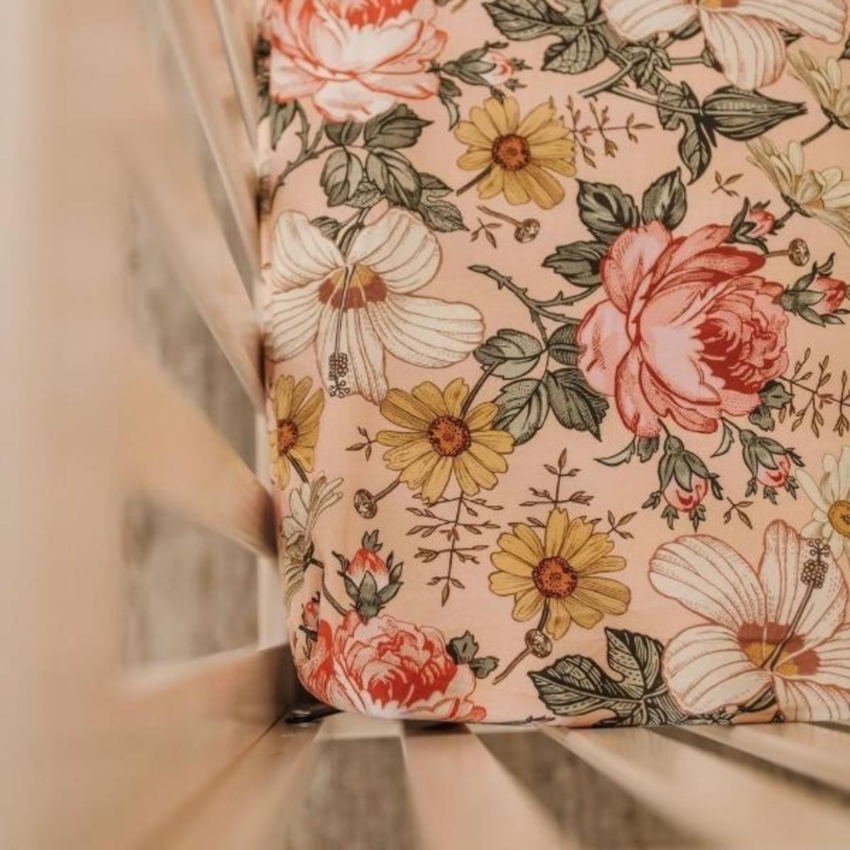 Mini Scout °° Drap de bassinette Fleur Rose