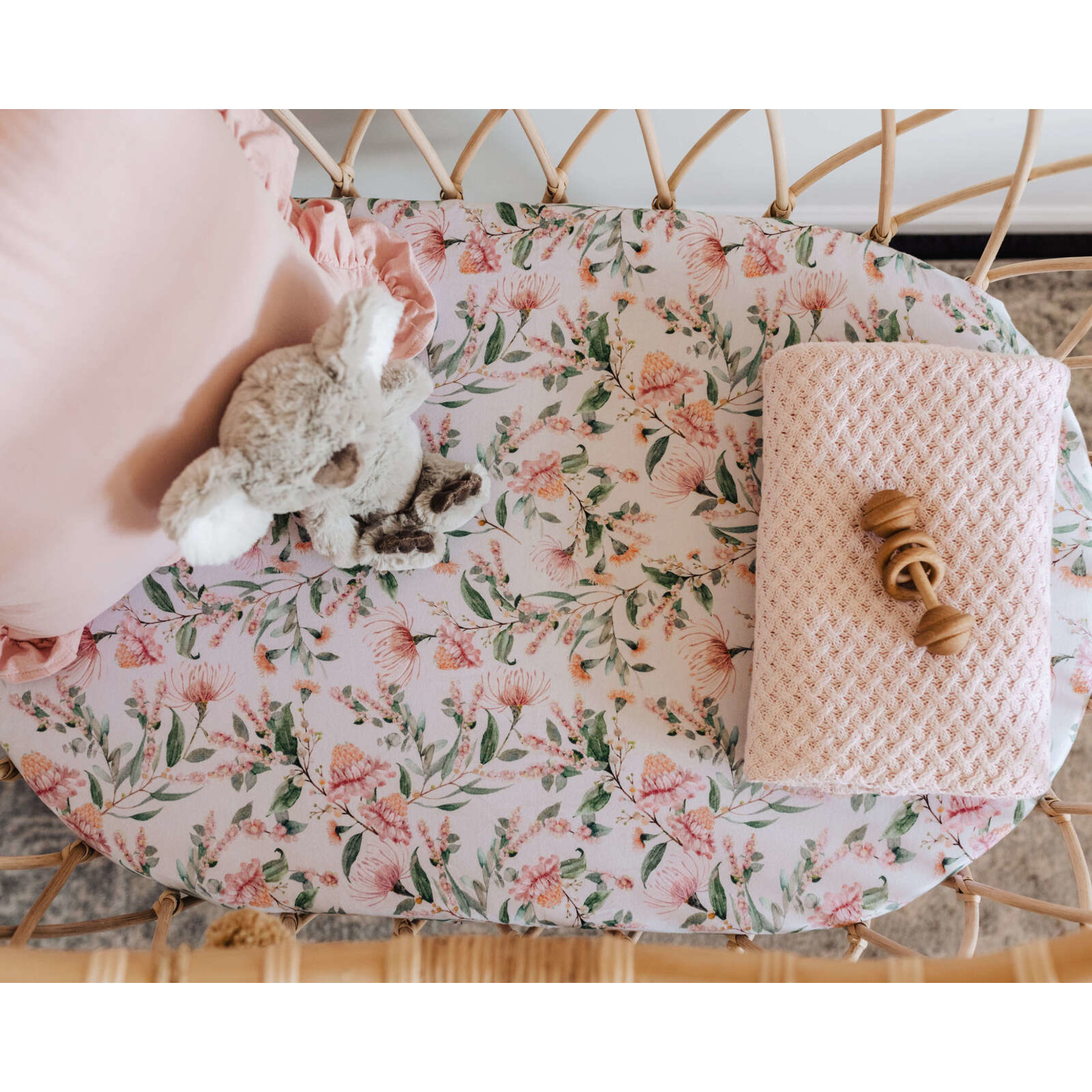 Snuggle Hunny °° Housse de table à langer Fleuri