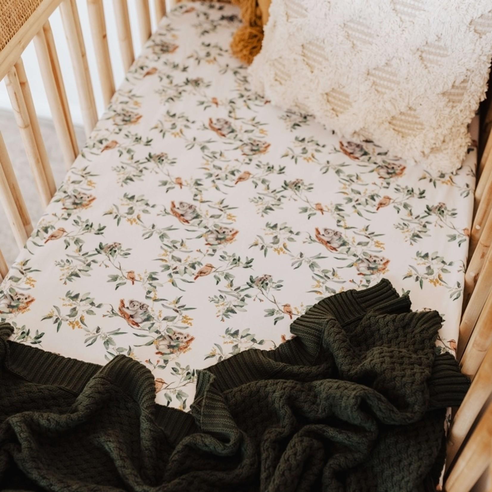 Snuggle Hunny °° Housse de bassinette Eucalyptus