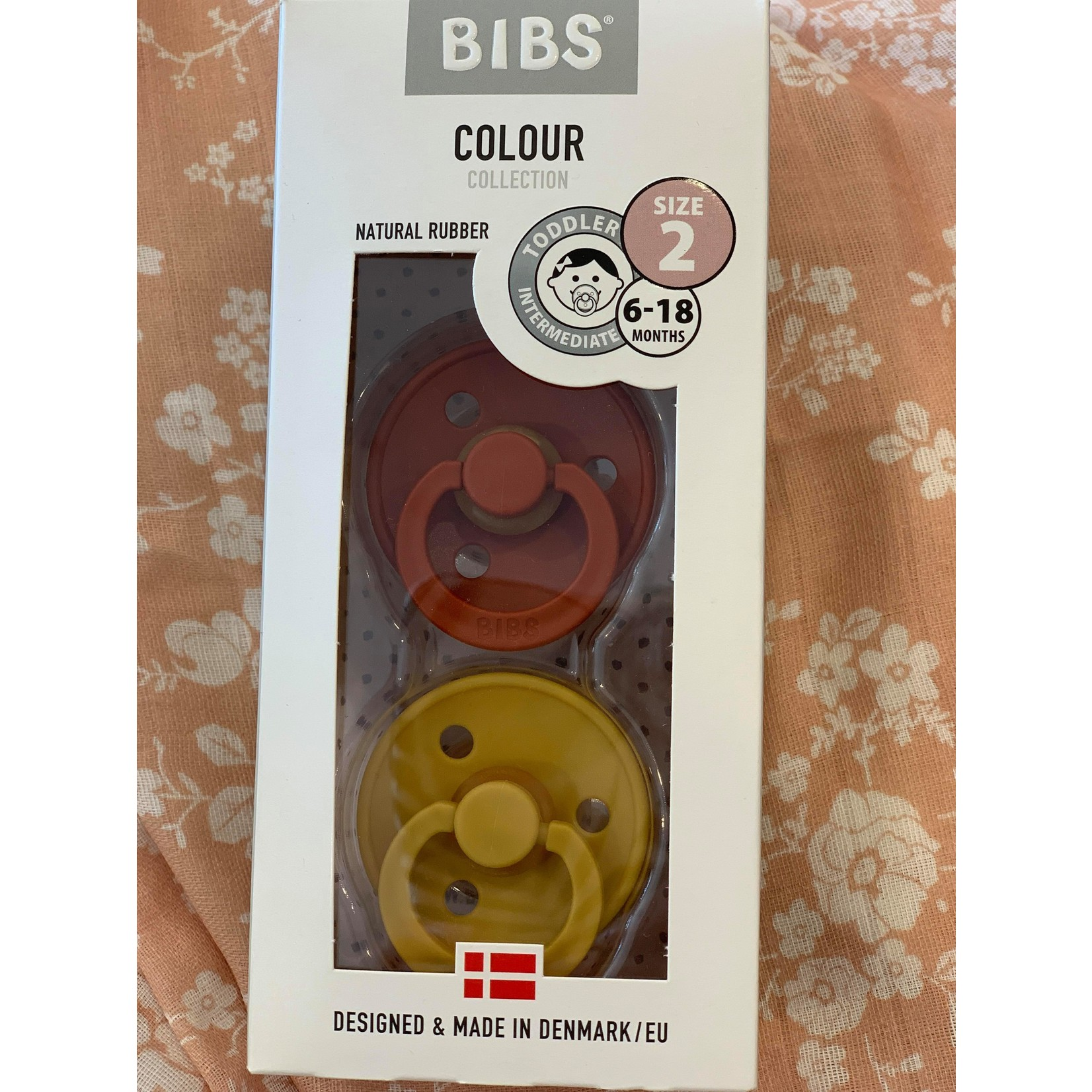 Bibs || Bibs Rouille/ Moutard 6-18 mois