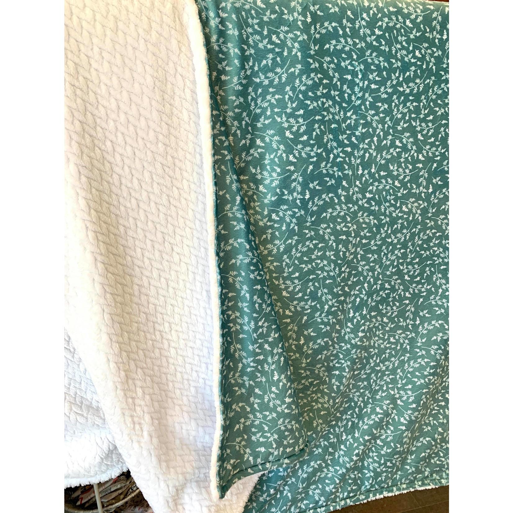 Pixel & Bobine || Doudou minky Lit simple Turquoise