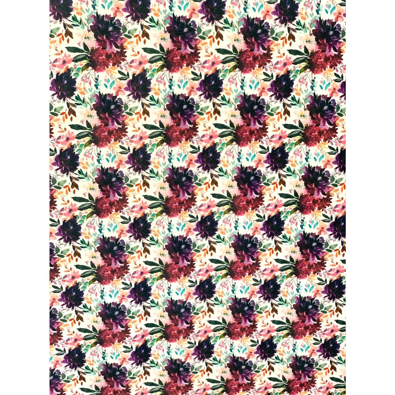 Pixel & Bobine °° Doudou Minky Bassinette 40x50 Fleur été