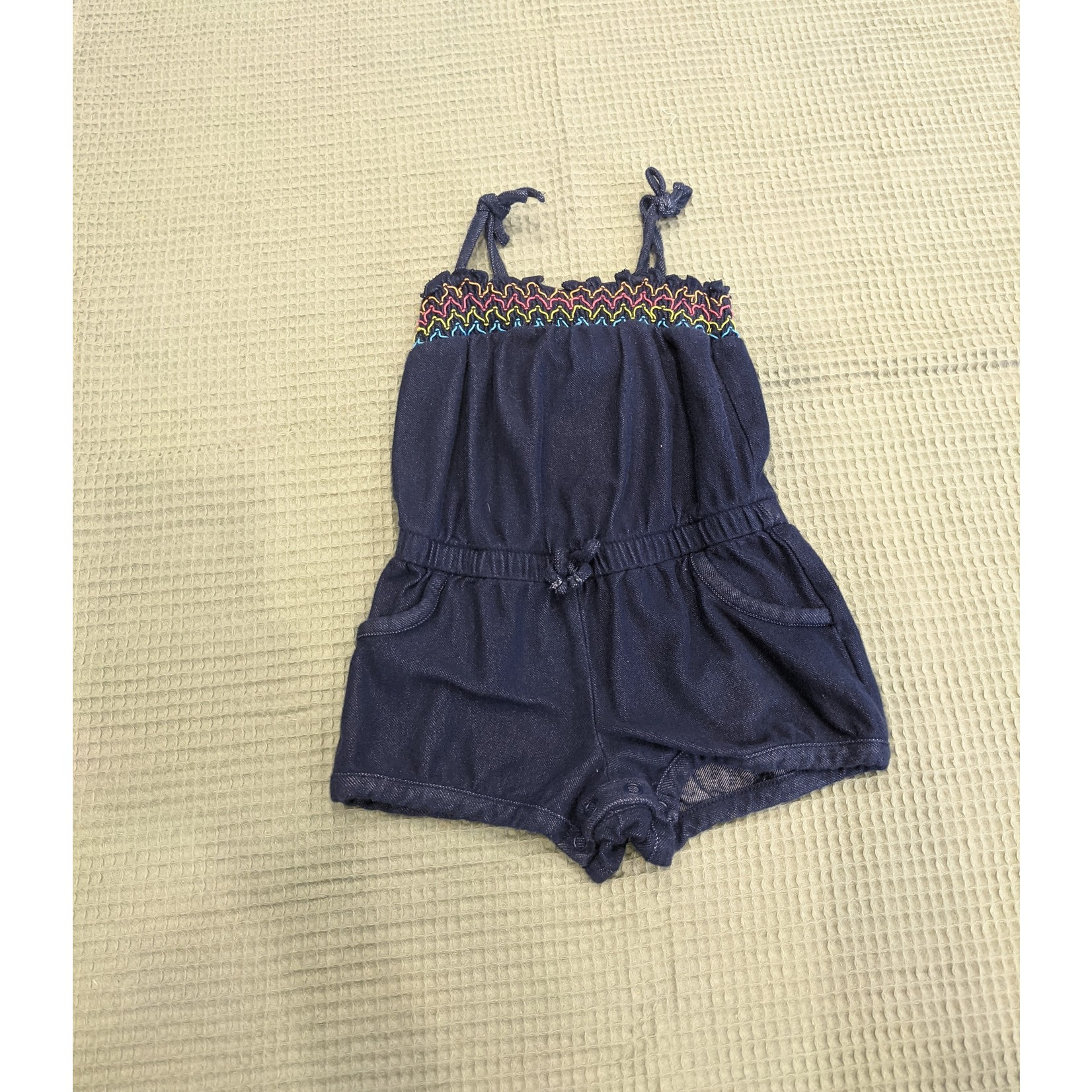 #46 One piece short imitation jeans