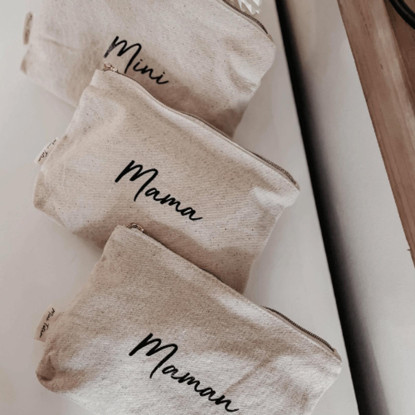 Mini Totem    Pochette en coton Maman recyclé