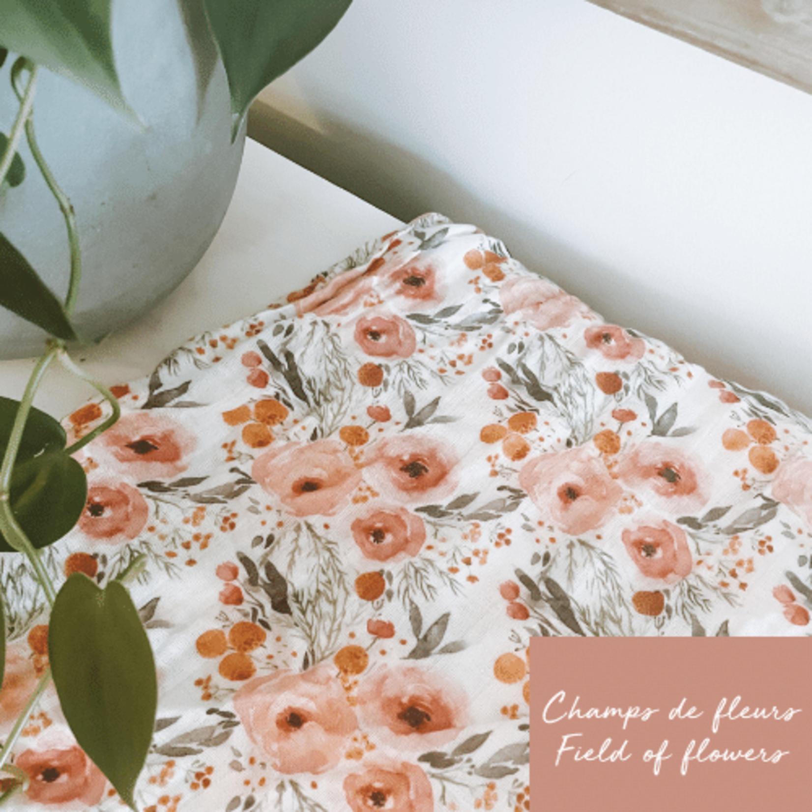 Mini Totem    Mousseline Bambou/Coton Fleur vintage