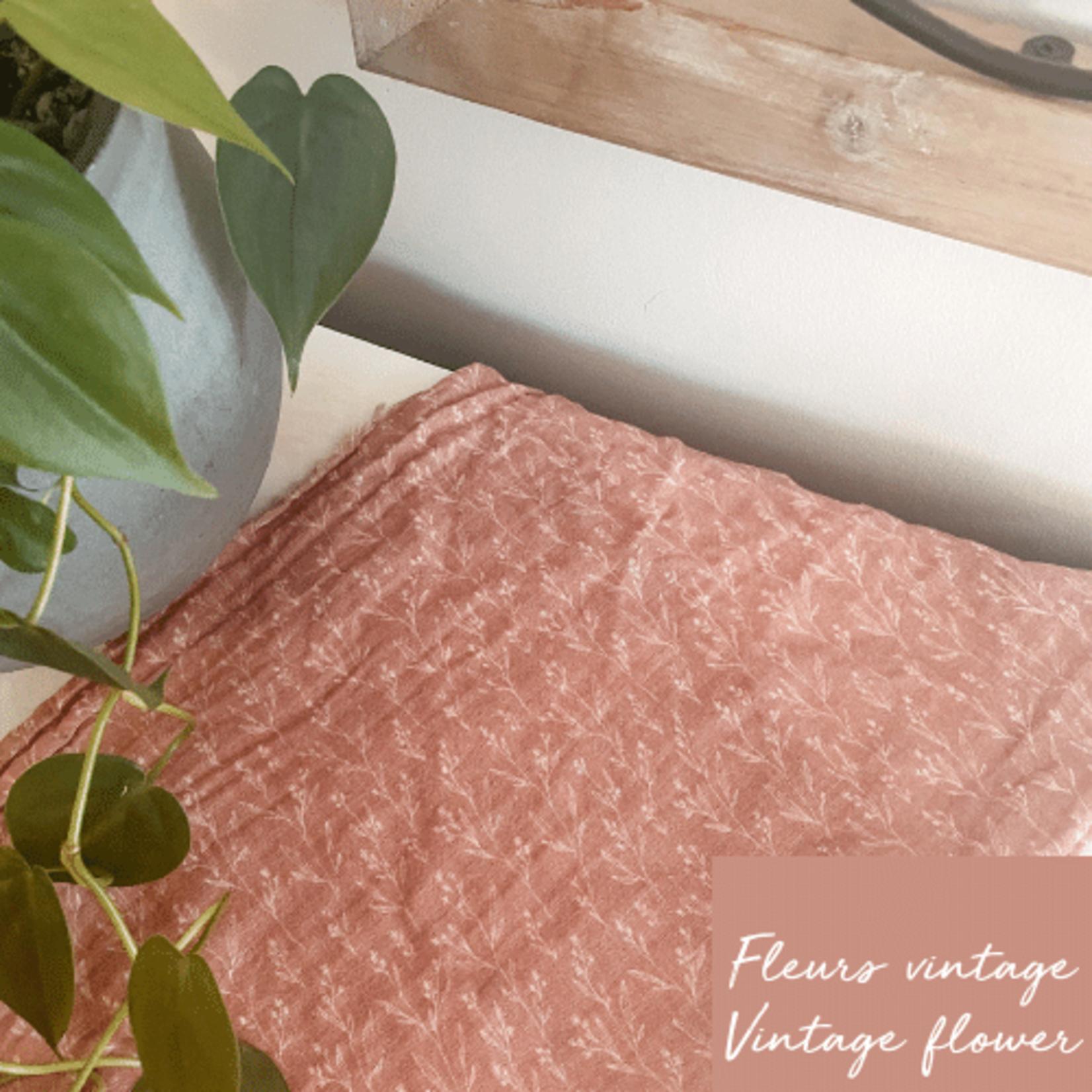 Mini Totem || Mousseline Bambou/Coton  Champs de fleur