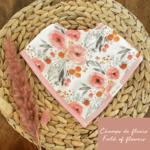 Mini Totem || Bavoir bambou/coton Fleur vintage