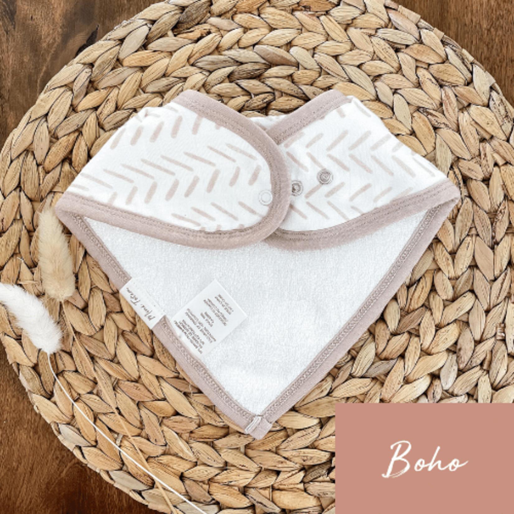 Mini Totem    Bavoir bambou/coton Fleur vintage