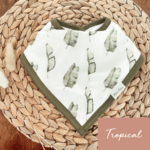 Mini Totem || Bavoir bambou/coton  Tropical