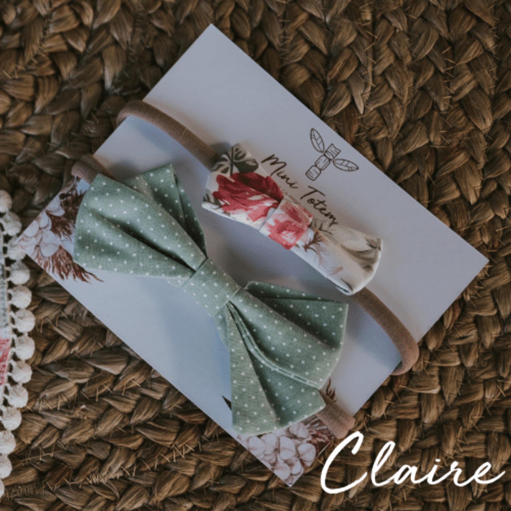 Mini Totem    Boucles à cheveux en coton-lin Claire