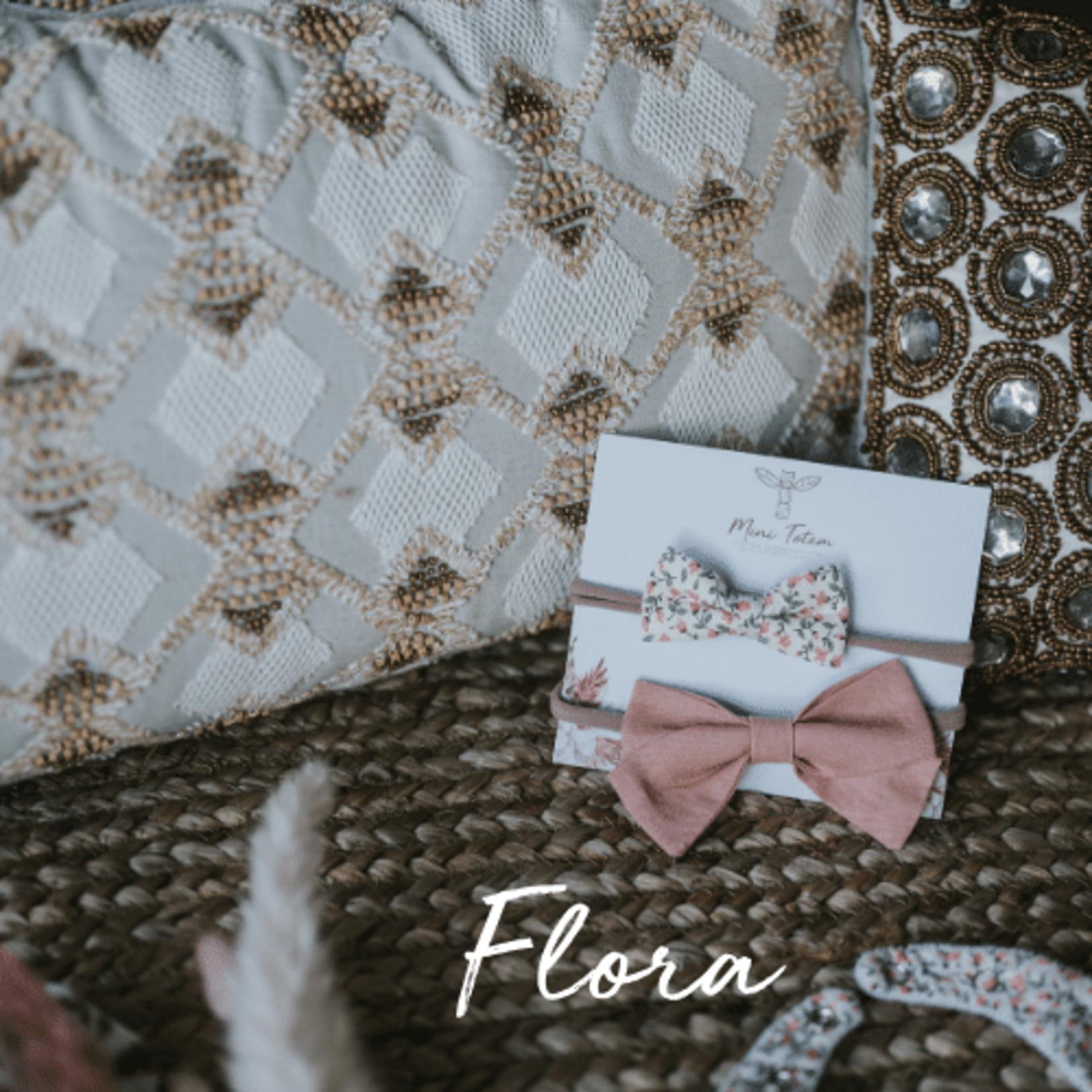Mini Totem || Boucles à cheveux en coton-lin Flora