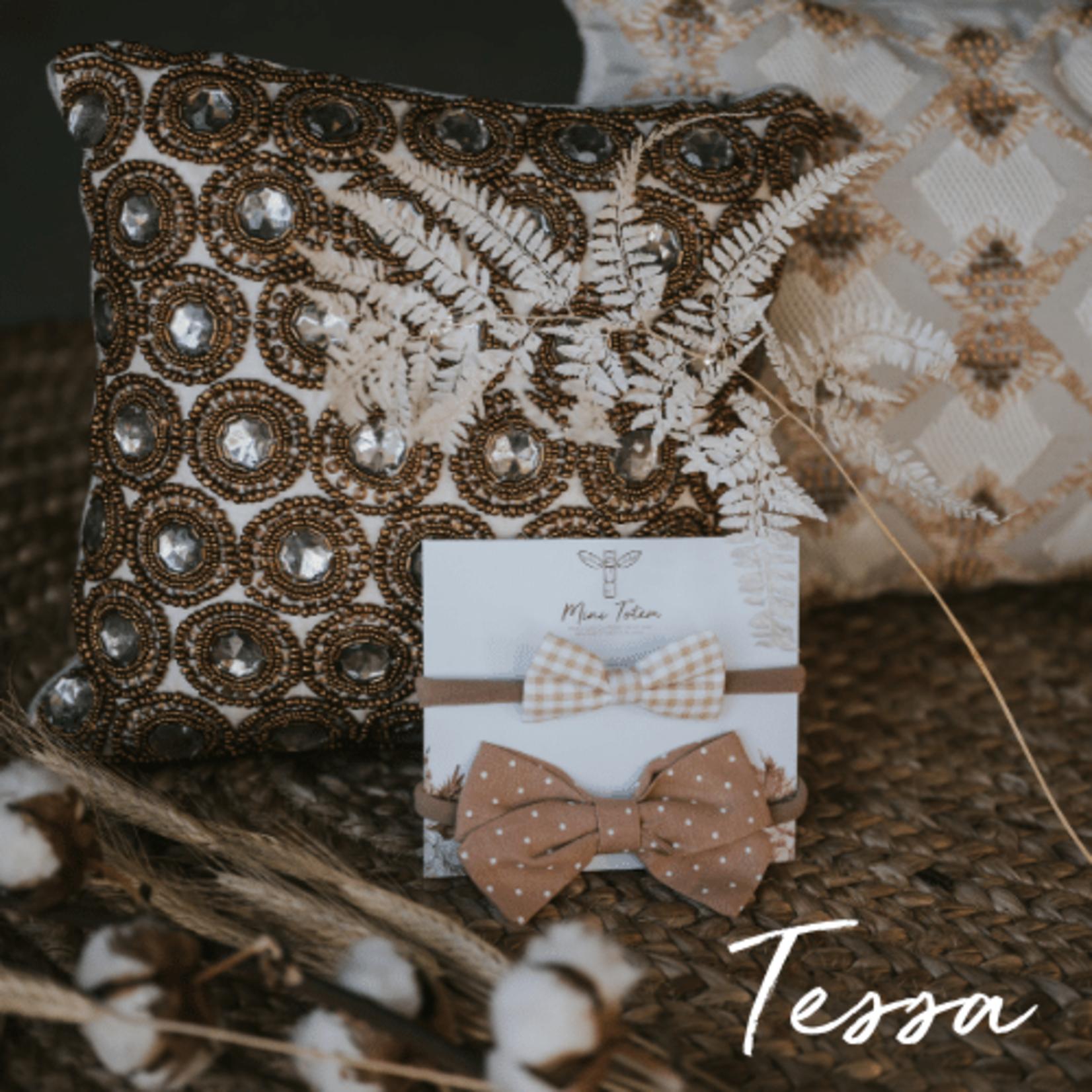 Mini Totem || Boucles à cheveux en coton-lin Tessa