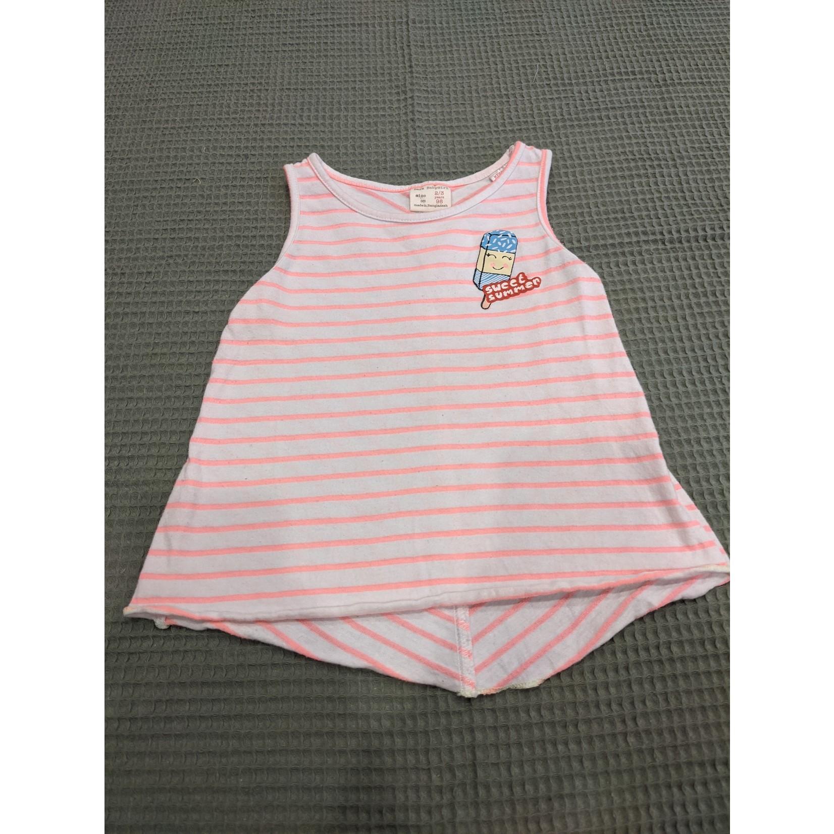 #54 Camisole Zara ligné rose
