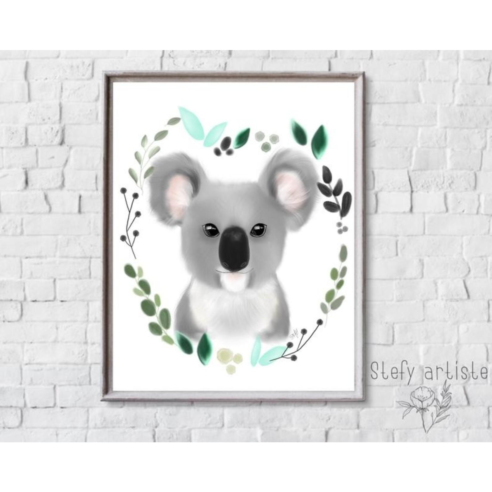 Stefy Artist || Illustration Koala feuille