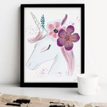 Stefy Artist || Illustration Licorne  Fleurs