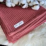 Miel et Vanille || Mousseline coton gaufré framboise
