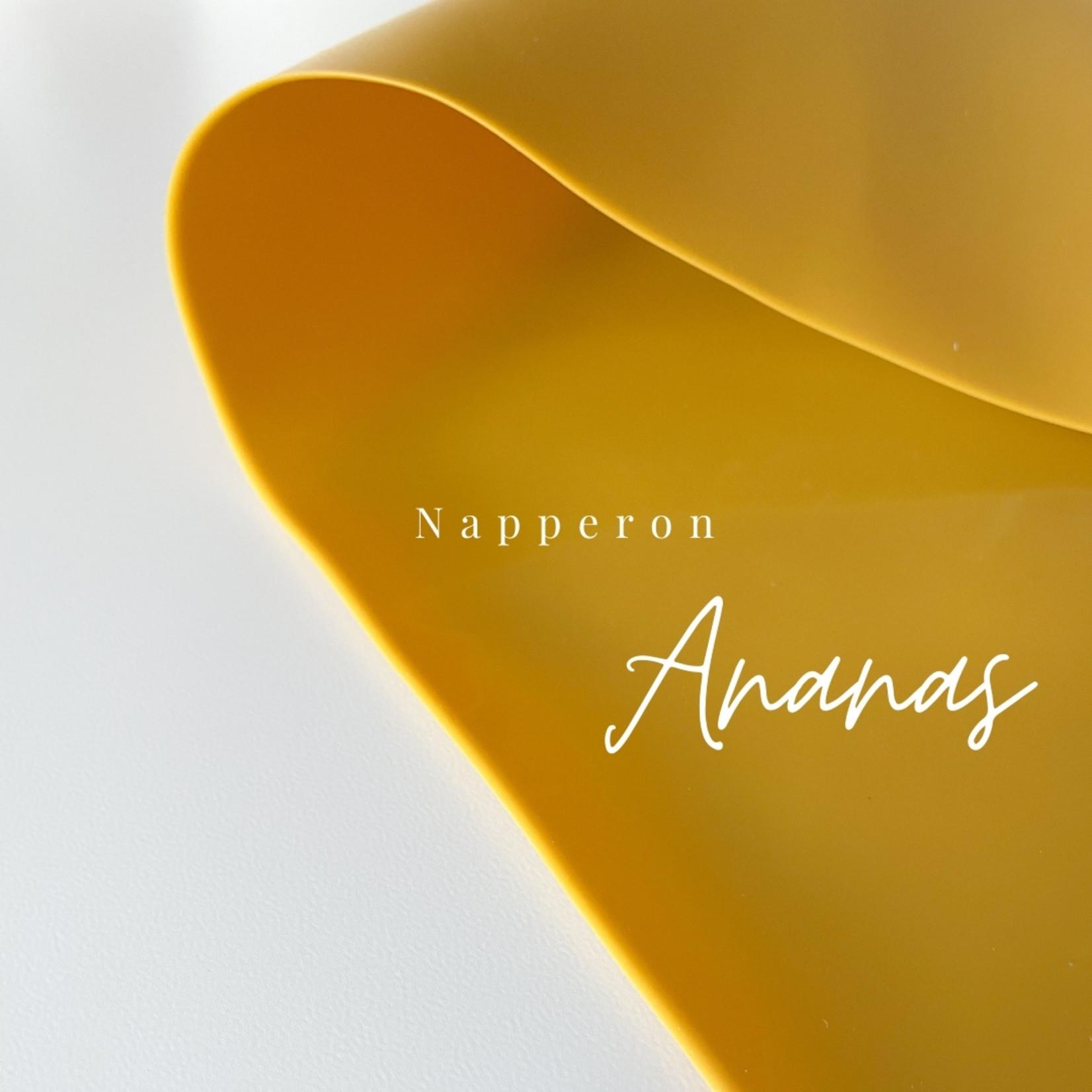 Leah produit pour bebe || Napperon Ananas