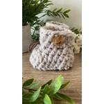 Création May    Pantoufles en tricot  Gris pâle 12-18m