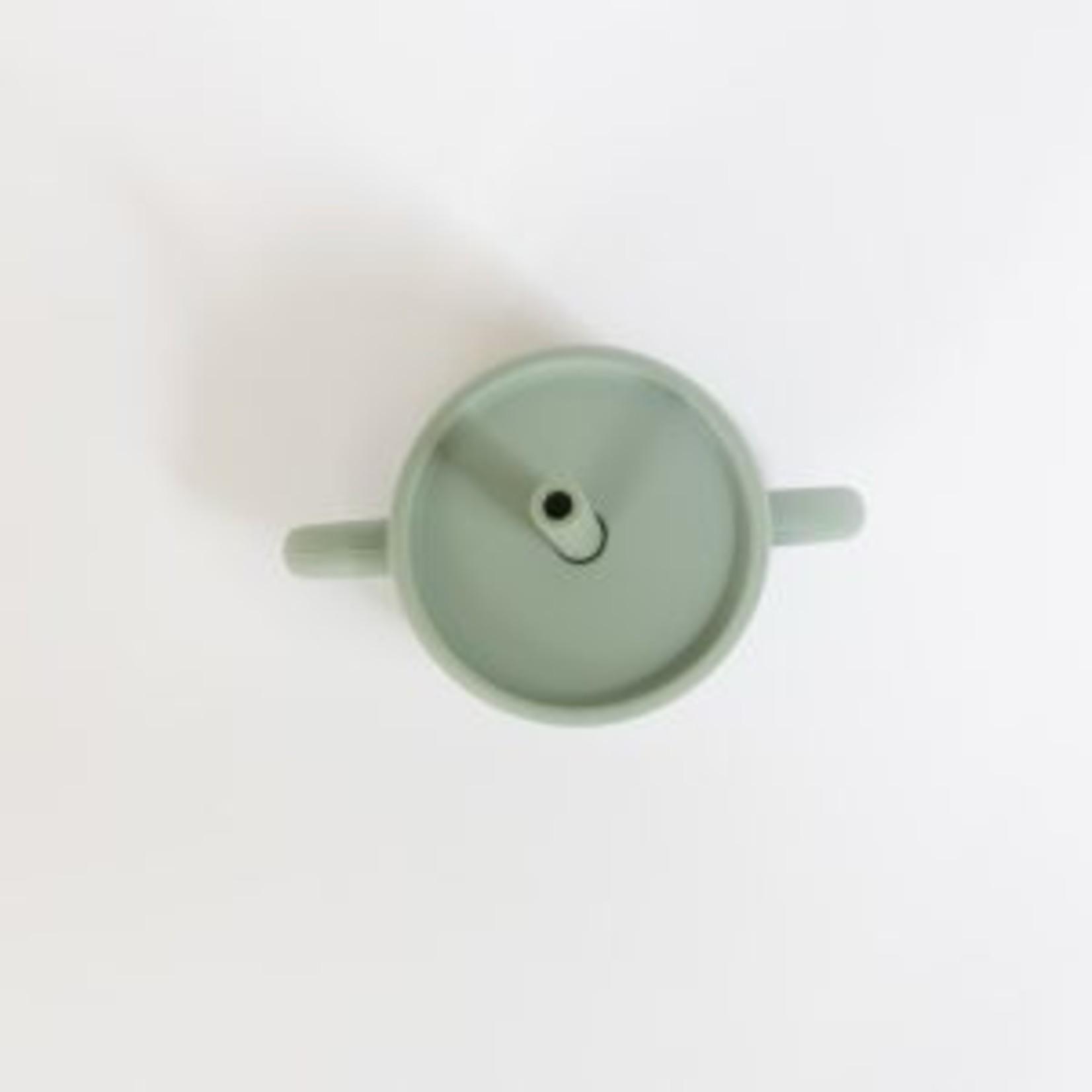 Pois & Moi || Gobelet avec paille Sauge