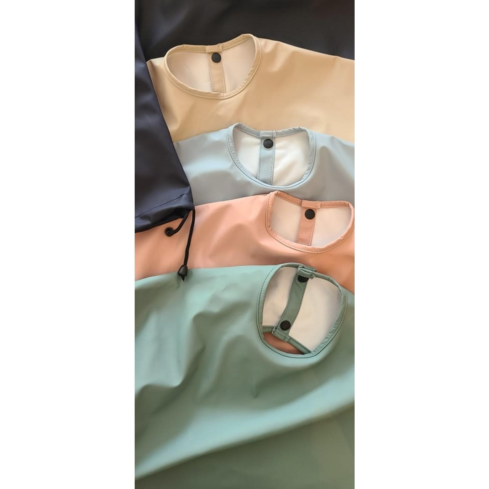 Pois & Moi || Bavette à manche 0-24 M Bleu Glacial