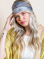 Leto Accessories Wide Tie Dye Headwrap