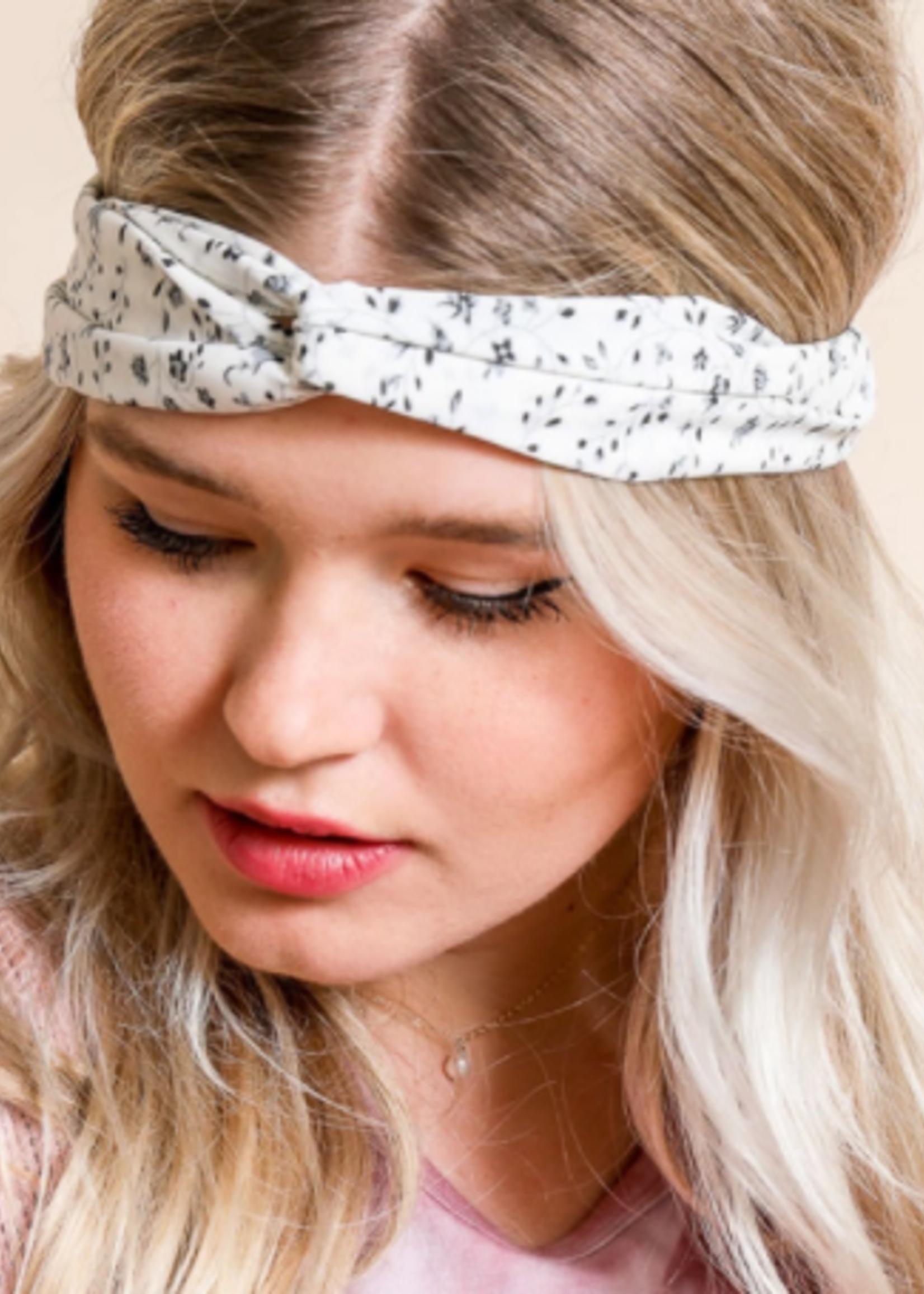 Leto Accessories Floral Twist Headwrap