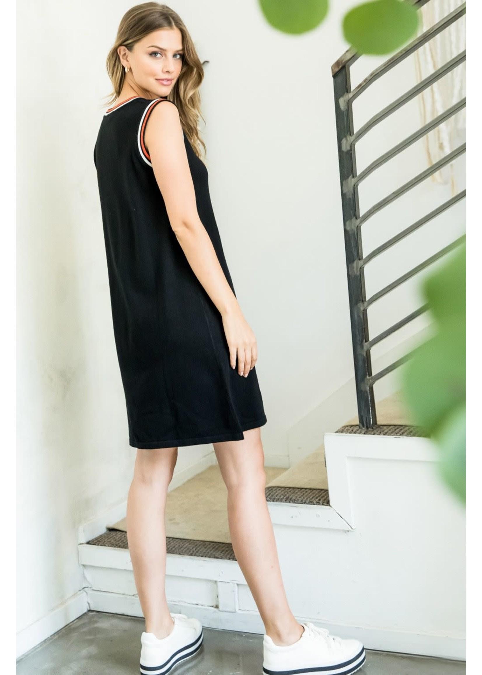 THML Black Trim Dress
