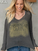 Wooden Ships Champagne Sweater