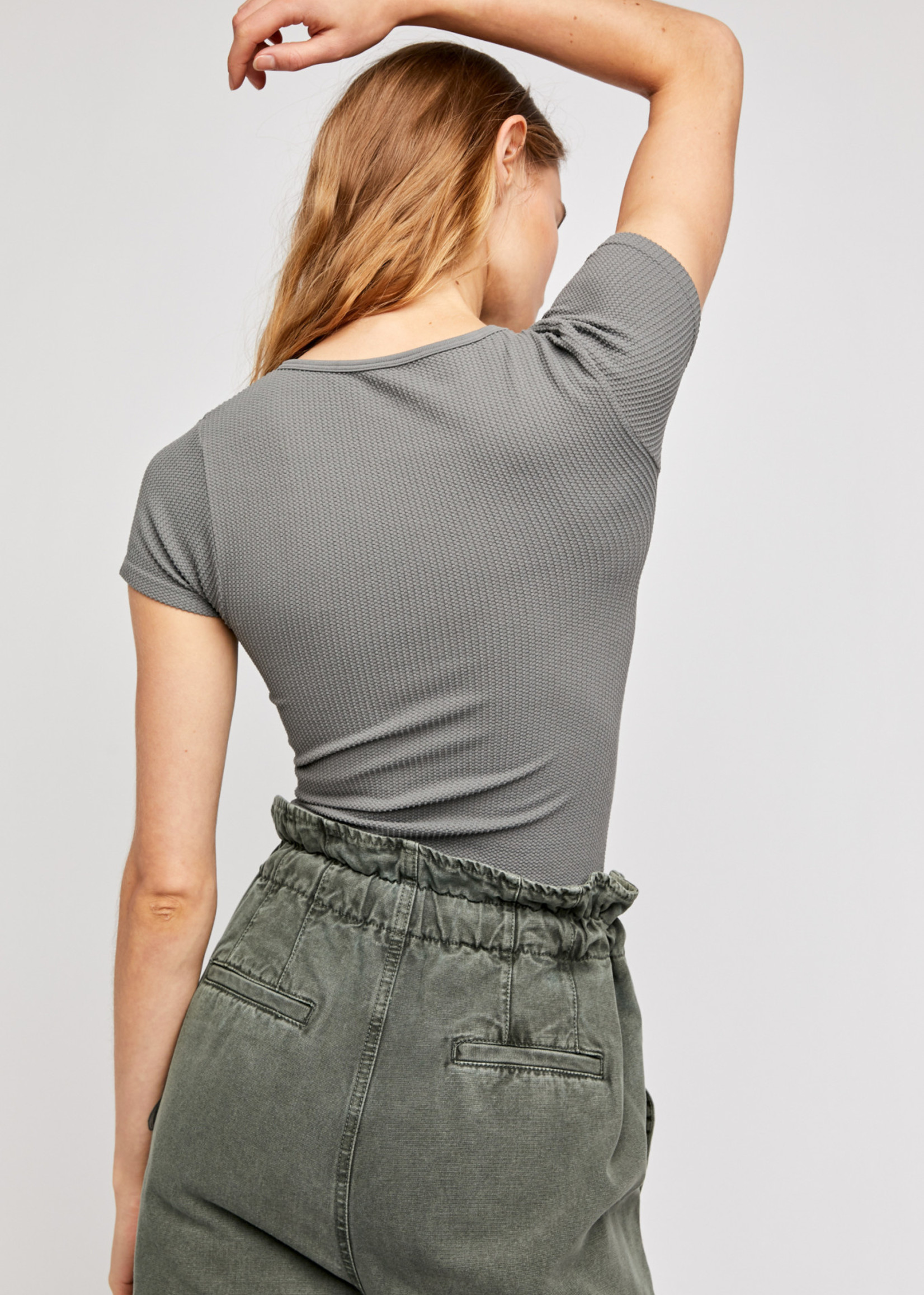 Free People  Grey Weekend Tee
