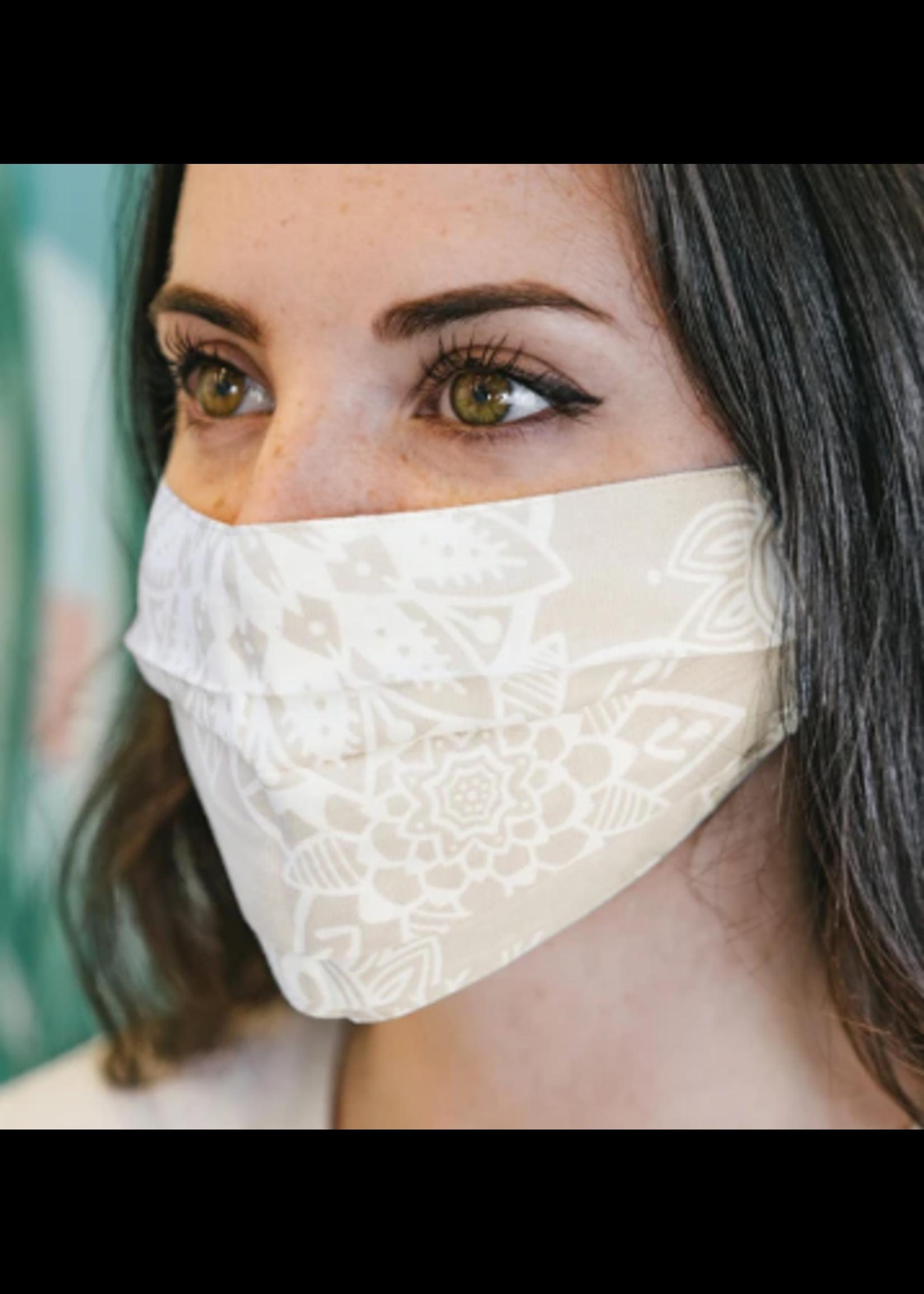 Lotus & Luna Pleated Face Mask