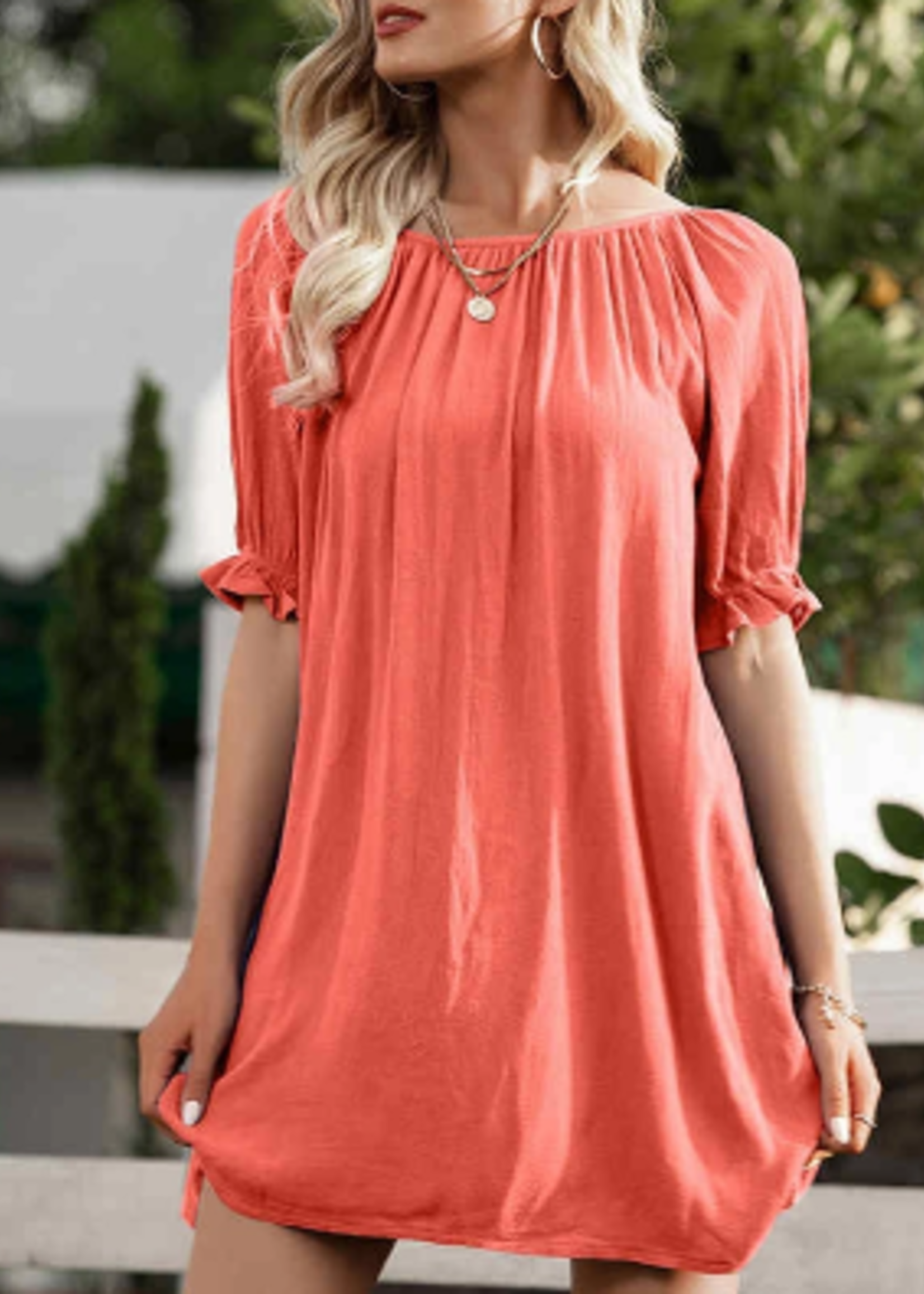 E Pretty Coral Dress