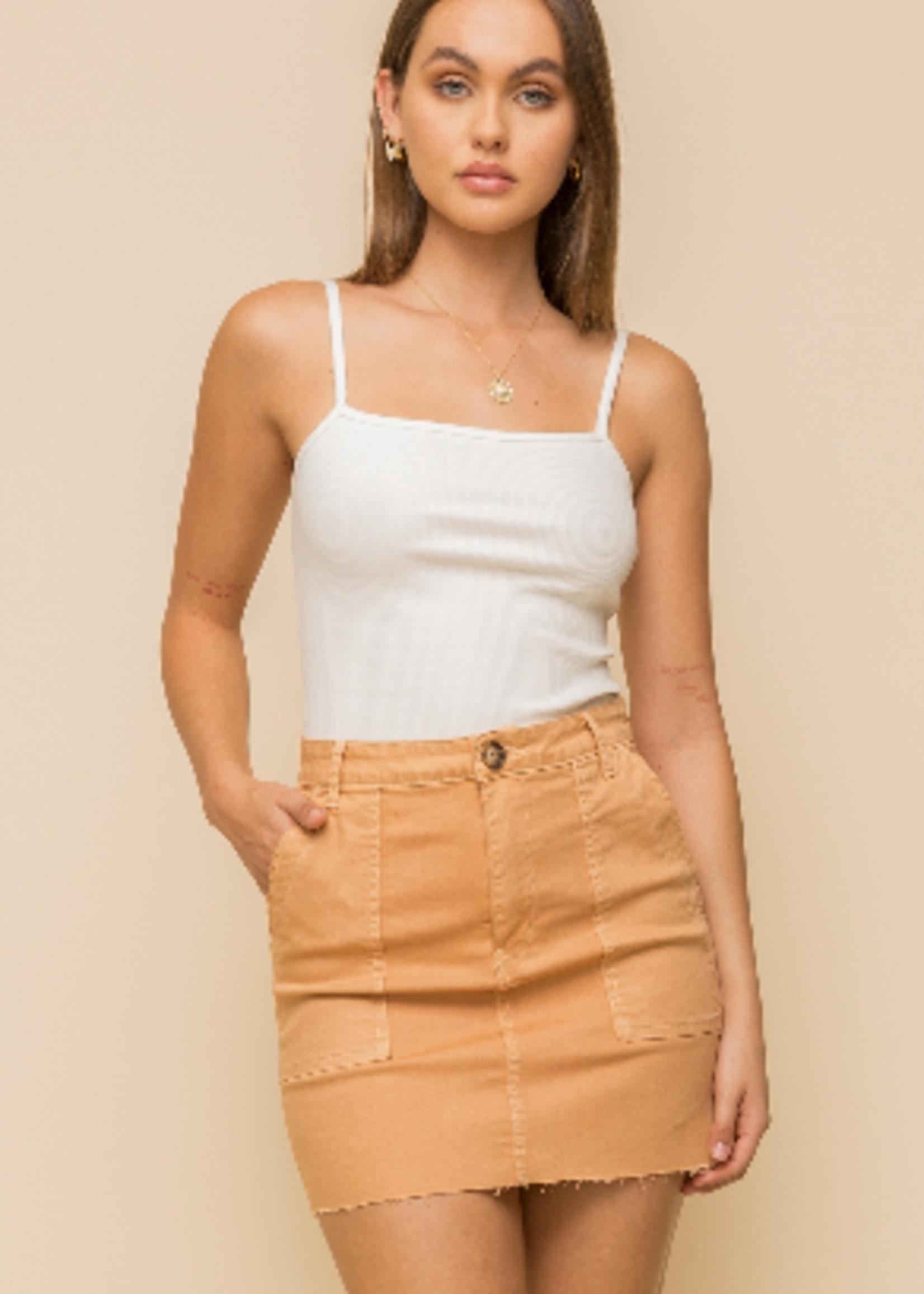Hem & Thread Twill Skirt