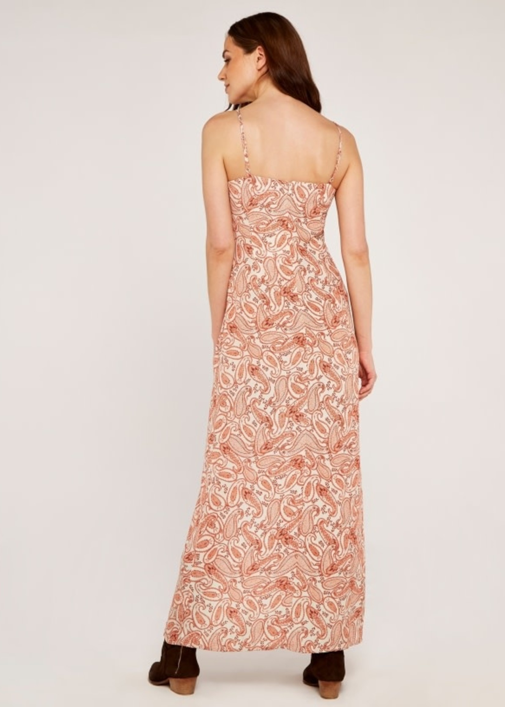Apricot Paisley Dress